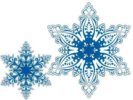Вытынанка снежинки к новому году