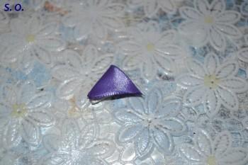 канзаши двухцветный лепесток