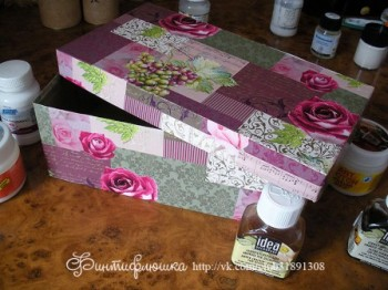 декорирование картонных коробок