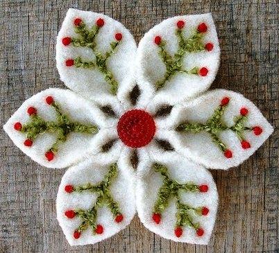 Объемные снежинки из ткани своими руками