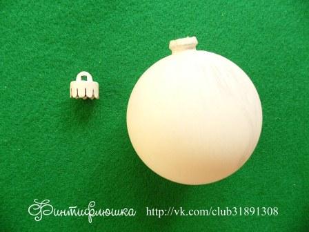 декупаж новогоднего шарика