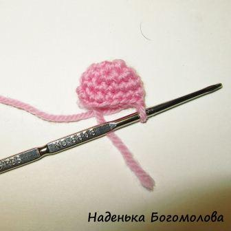 начало вязания сердца крючком