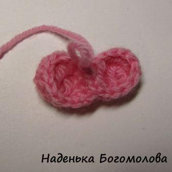 соединить две половинки сердца крючком