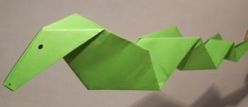 Миниатюра к статье Змея из бумаги в технике оригами