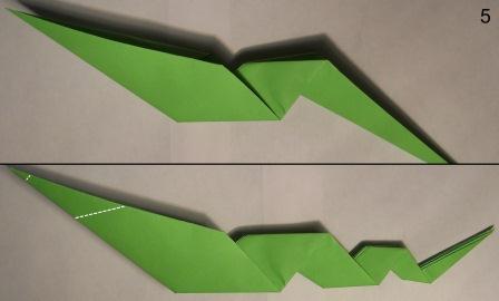 zmeja iz bumagi origami 5