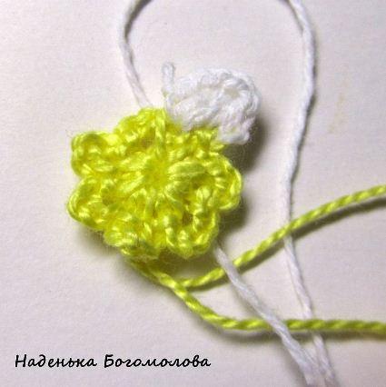 как связать цветок подснежника