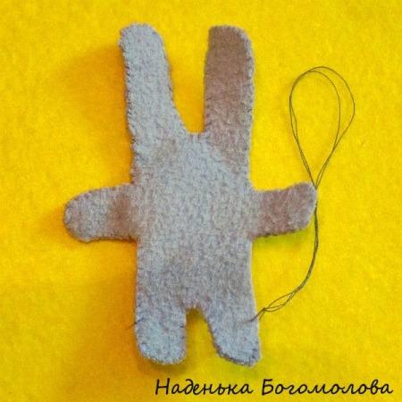 пасхальный зайчик из ткани
