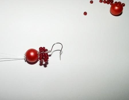 как сделать сережки из бисера мастер-класс