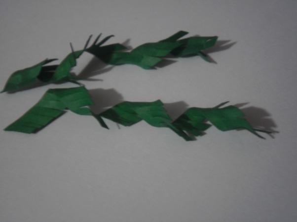 листья мимозы из бумаги