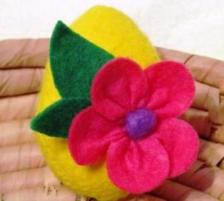 Миниатюра к статье Пасхальное яйцо из фетра