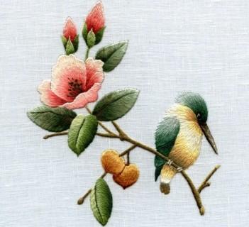 вышивка объемных цветов своими руками