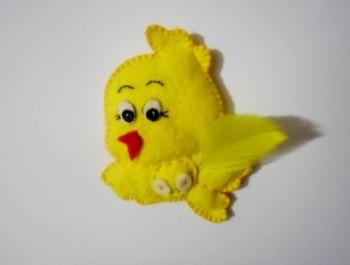 Миниатюра к статье Пасхальный цыплёнок из фетра своими руками