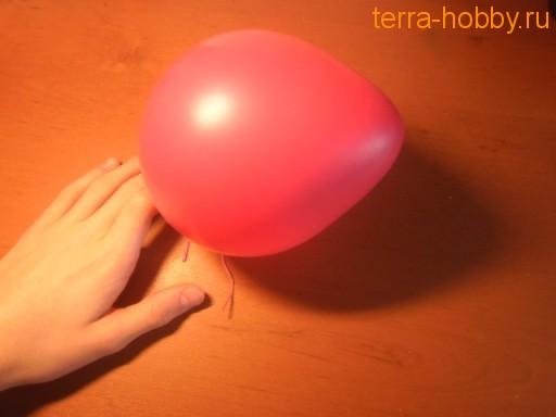 воздушный шар для яйца из ниток