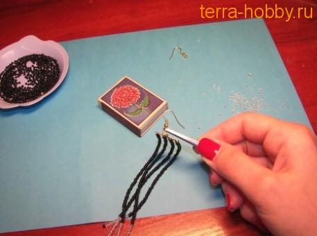 Как сделать серьги в восточном стиле своими руками