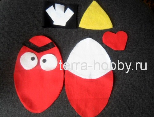 Как сшить злую птичку красного цвета из игры Angry Birds Территория хобби