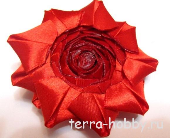оформление обратной стороны цветка