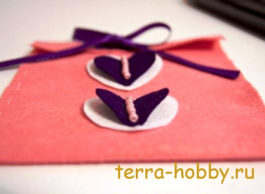 подарочный конверт из фетра