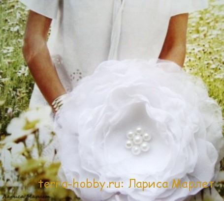 красивые цветы из ткани
