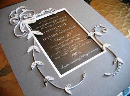 приглашение на свадьбу квиллинг