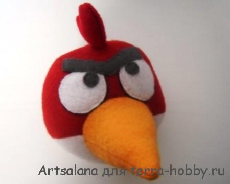 Как сшить красную злую птичку Энгри Бердс из фетра Территория хобби