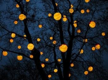 Миниатюра к статье Яблоня-светильник или уличные фонари из старого дерева
