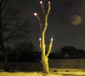 уличные фонари из старого дерева
