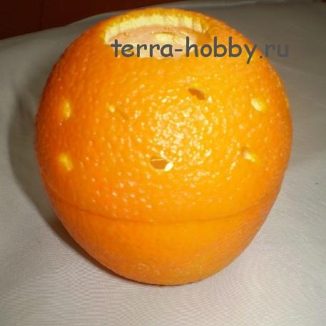 подсвечник из апельсина своими руками