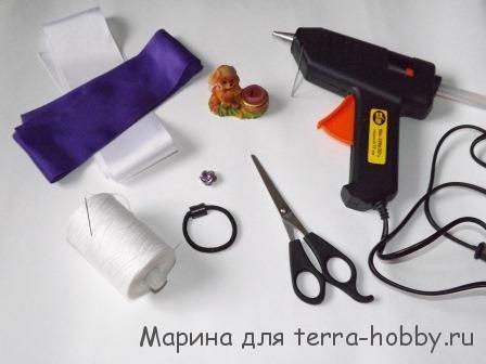 материалы для изготовления резинки канзаши