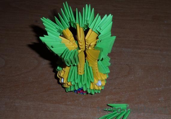 ваза модульное оригами