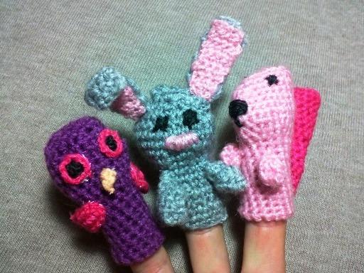 игрушки на пальцы крючком