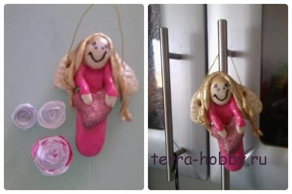 Рождественский ангел из соленого теста - игрушка на елку своими руками
