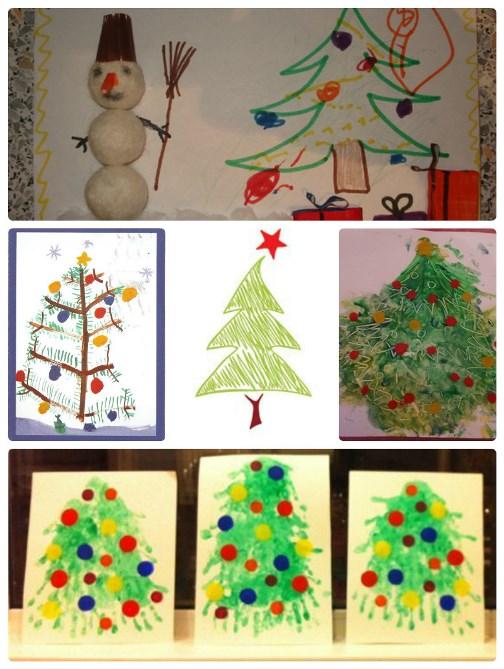 новогодние открытки нарисовать