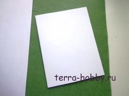 новогодняя открытка с елкой из фетра2