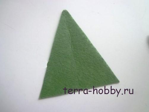 новогодняя открытка с елкой из фетра4