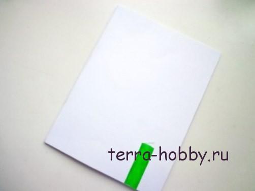 новогодняя открытка с елкой из фетра5