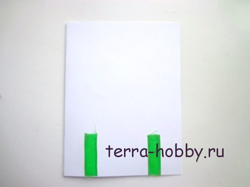 новогодняя открытка с елкой из фетра6