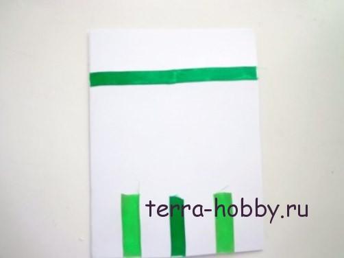 новогодняя открытка с елкой из фетра7