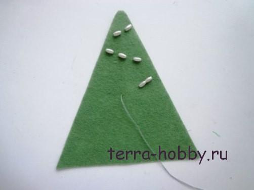 новогодняя открытка с елкой из фетра8