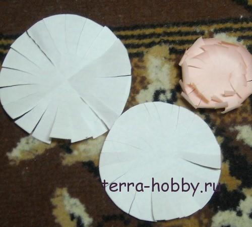 хризантема из бумаги2