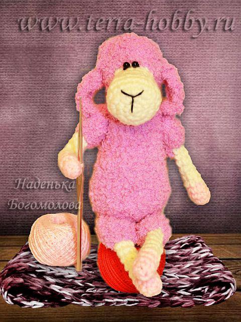 вязаная овечка от Надежды Богомоловой