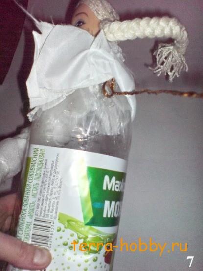 Снегурочка из подручных материалов фото