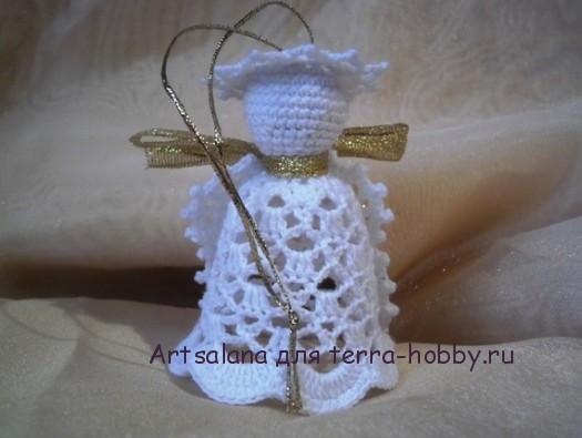 вязаный ангел крючком