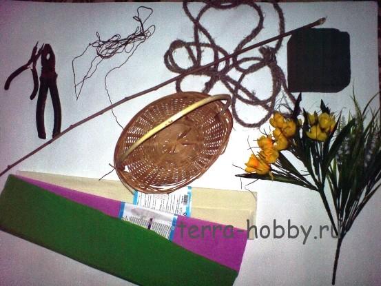 материалы для букета из конфет