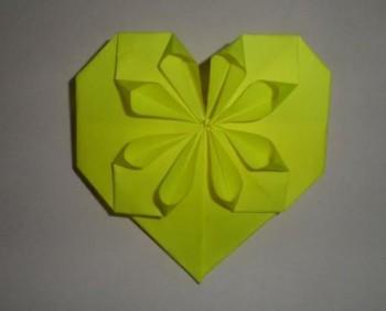 Миниатюра к статье Валентинка оригами своими руками