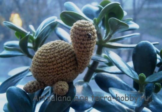 черепаха амигуруми