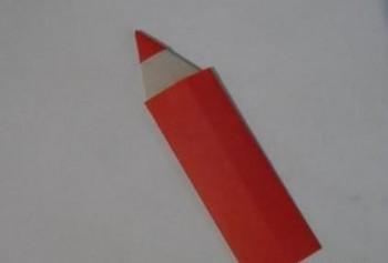 Миниатюра к статье Закладка карандаш в технике оригами своими руками