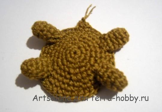 сборка вязаной черепахи