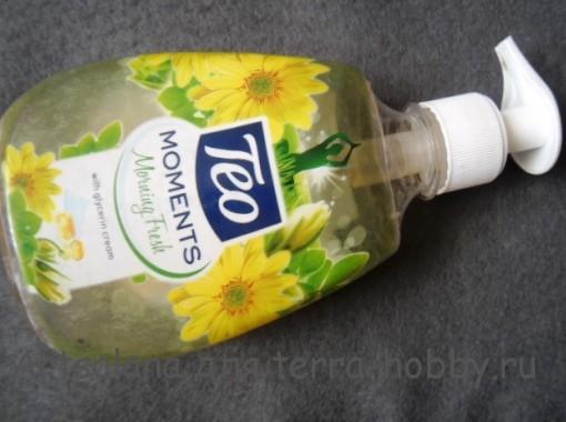 Пластиковая бутылка из-под жидкого мыла