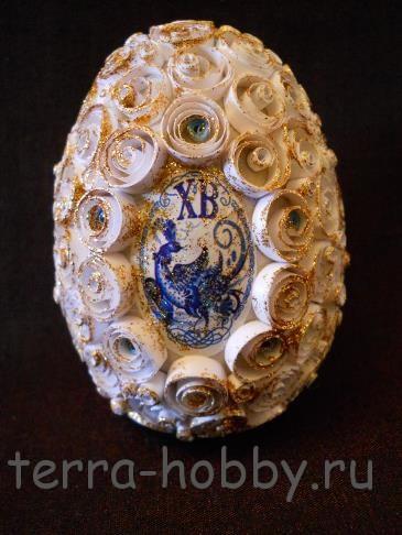 квиллинг пасхальное яйцо
