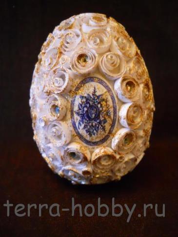 пасхальное яйцо квиллинг своими руками